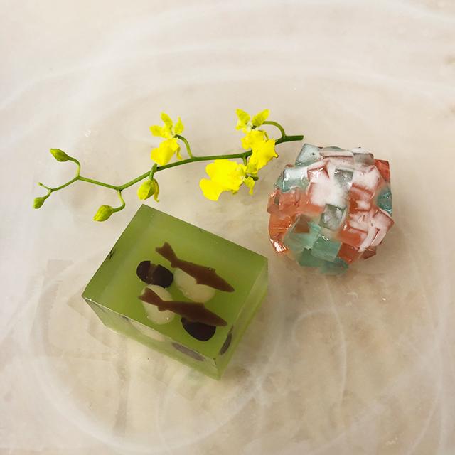 清流と紫陽花